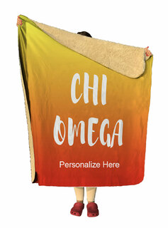 Chi Omega Gradient Sherpa Lap Blanket