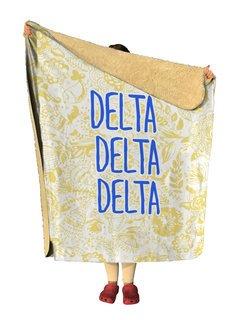 Delta Delta Delta Floral Sherpa Lap Blanket