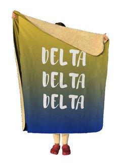 Delta Delta Delta Gradient Sherpa Lap Blanket