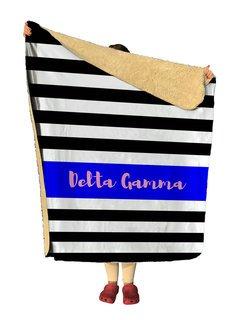 Delta Gamma Stripes Sherpa Lap Blanket