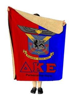 Delta Kappa Epsilon Two Tone Two Tone Sherpa Lap Blanket