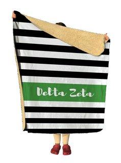 Delta Zeta Stripes Sherpa Lap Blanket