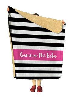 Gamma Phi Beta Stripes Sherpa Lap Blanket