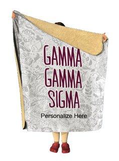 Gamma Sigma Sigma Floral Sherpa Lap Blanket