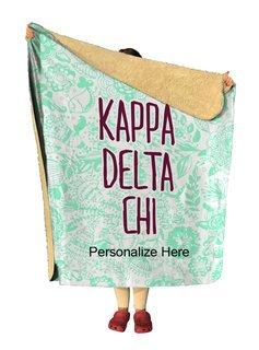 Kappa Delta Chi Floral Sherpa Lap Blanket