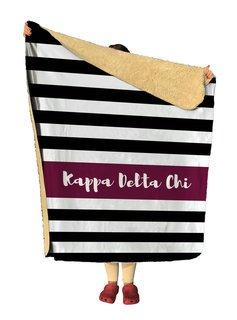 Kappa Delta Chi Stripes Sherpa Lap Blanket