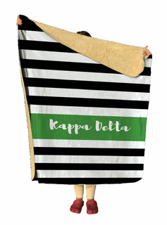 Kappa Delta Stripes Sherpa Lap Blanket