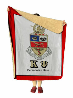 Kappa Psi Sherpa Lap Blanket