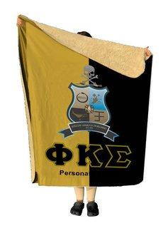 Phi Kappa Sigma Two Tone Two Tone Sherpa Lap Blanket