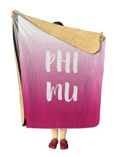 Phi Mu Gradient Sherpa Lap Blanket