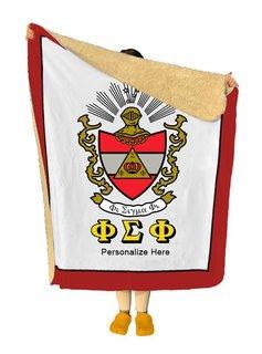 Phi Sigma Phi Sherpa Lap Blanket