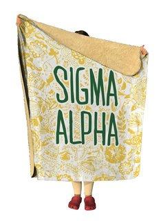Sigma Alpha Floral Sherpa Lap Blanket