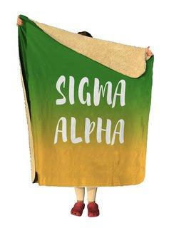 Sigma Alpha Gradient Sherpa Lap Blanket