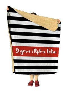 Sigma Alpha Iota Stripes Sherpa Lap Blanket