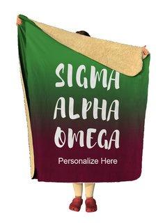 Sigma Alpha Omega Gradient Sherpa Lap Blanket