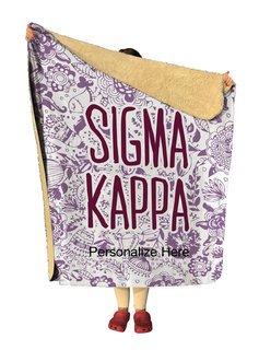 Sigma Kappa Floral Sherpa Lap Blanket