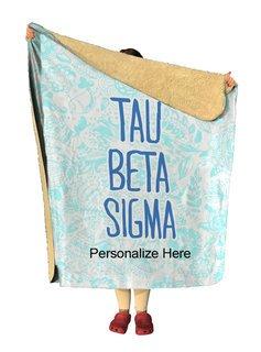 Tau Beta Sigma Floral Sherpa Lap Blanket