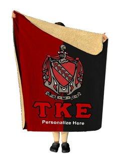 Tau Kappa Epsilon Two Tone Sherpa Lap Blanket