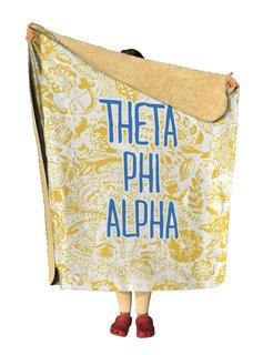 Theta Phi Alpha Floral Sherpa Lap Blanket