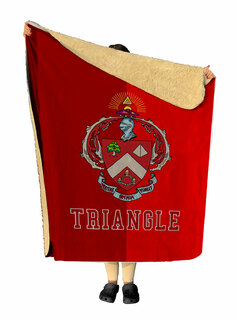 Triangle Two Tone Two Tone Sherpa Lap Blanket