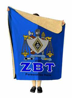 Zeta Beta Tau Two Tone Two Tone Sherpa Lap Blanket