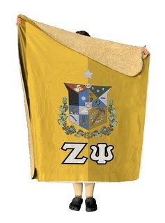 Zeta Psi Two Tone Two Tone Sherpa Lap Blanket