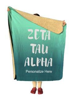 Zeta Tau Alpha Gradient Sherpa Lap Blanket