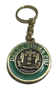 Delta Sigma Phi Metal Fraternity Key Chain