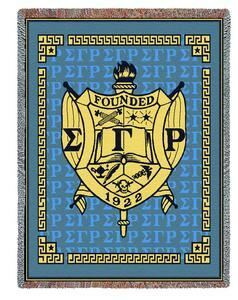 Sigma Gamma Rho Deluxe Afghan Blanket