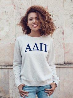 Alpha Delta Pi Arched Greek Lettered Crewneck Sweatshirt