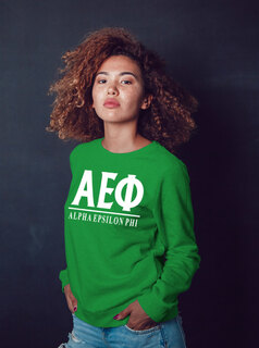 Alpha Epsilon Phi Message Crewneck Sweatshirts