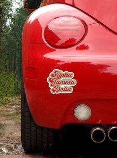 Alpha Gamma Delta Retro Sorority Car Magnet Set of 2
