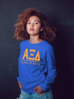Alpha Xi Delta Message Crewneck Sweatshirts