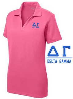 $30 World Famous Delta Gamma Greek PosiCharge Polo