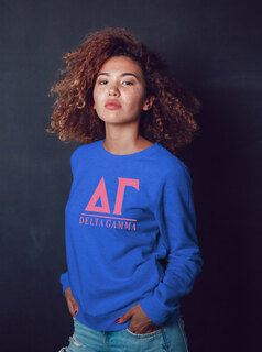 Delta Gamma Message Sweatshirt