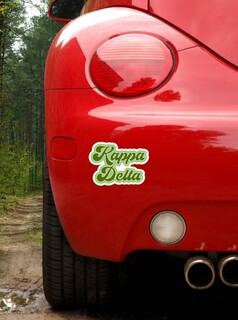Kappa Delta Retro Sorority Car Magnet Set of 2