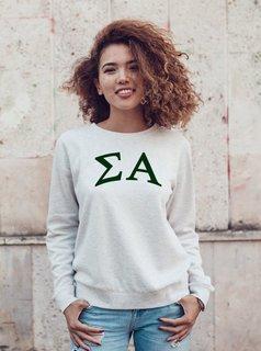 Sigma Alpha Arched Greek Lettered Crewneck Sweatshirt