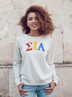 Sigma Iota Alpha Arched Greek Lettered Crewneck Sweatshirt