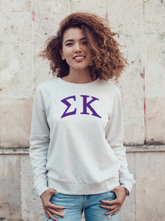 Sigma Kappa Arched Greek Lettered Crewneck Sweatshirt