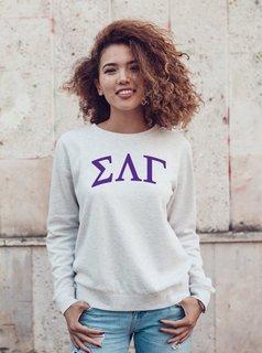 Sigma Lambda Gamma Arched Greek Lettered Crewneck Sweatshirt