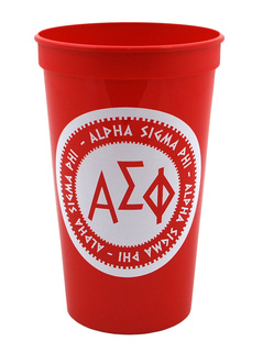 Set of 10 - Alpha Sigma Phi Big Ancient Greek Letter Stadium Cup - Clearance!!!