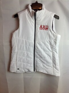 Super Savings - Alpha Chi Omega Admire Vest - White