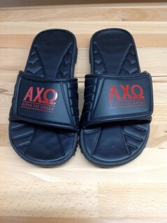 Super Savings - Alpha Chi Omega Slides - Black - Size 9 - 2 of 4