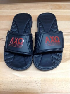 Super Savings - Alpha Chi Omega Slides - Black - Size 9 - 3 of 4