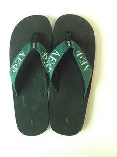 Super Savings - Alpha Epsilon Phi Flip Flops - Black/Green 1 of 2