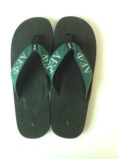 Super Savings - Alpha Epsilon Phi Flip Flops - Black/Green 2 of 3