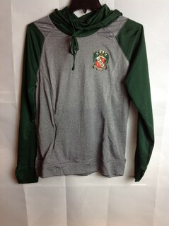 Super Savings - Alpha Gamma Delta Crest - Shield Echo Hoodie - Gray