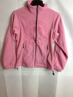 Super Savings - Alpha Gamma Delta Seal Fleece Jacket - Pink