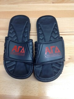 Super Savings - Alpha Gamma Delta Slides - Black - Size 10