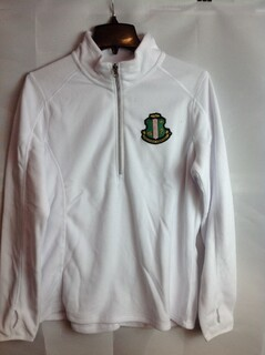 Super Savings - Alpha Kappa Alpha Crest Patch One Quarter Zip Pullover - White